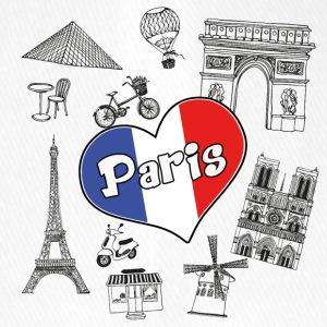 I Love Paris 2 - Flexfit baseballcap