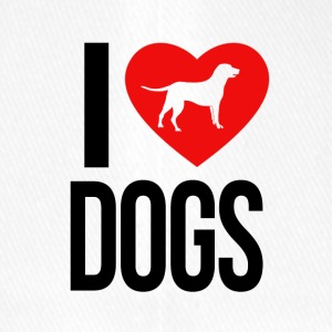 I LOVE DOGS - Flexfit Baseballkappe