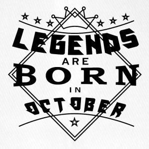 Legends October born birthday gift birth - Flexfit Baseball Cap