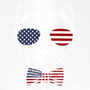 4th of July USA Meowica Funny Cat - Flexfit Baseball Cap