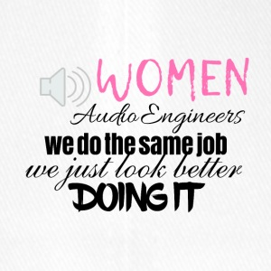 Women audio engineers look better doing it - Flexfit Baseballkappe