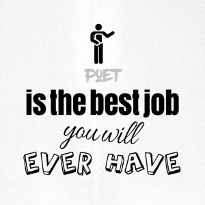 Poet is the best job you will ever have - Flexfit Baseballkappe
