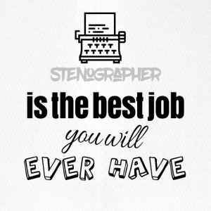 Stenographer is the best job you will ever have - Flexfit Baseballkappe