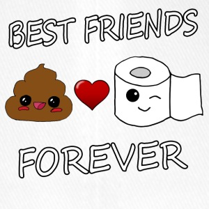 Poo and Paper Best Friends Kawaii - Flexfit basebollkeps