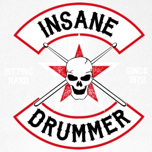 Insane Drummer - Biker Logo - Hitting Hard - Flexfit Baseball Cap