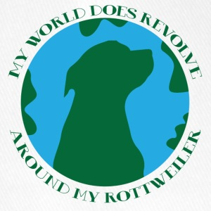 Hund / Rottweiler: My World Does Revolve Around - Flexfit Baseballkappe