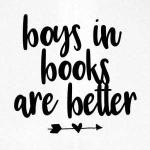 boys in books are better - black - Flexfit Baseballkappe
