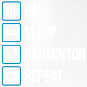 Eat Sleep Badminton Repeat - Flexfit Baseballkappe