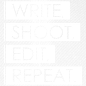 Write, Shoot, Edit, Repeat - Flexfit Baseballkappe
