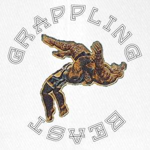GRAPPLING BEAST (APE VS JAGUAR) NAVY - Flexfit Baseball Cap
