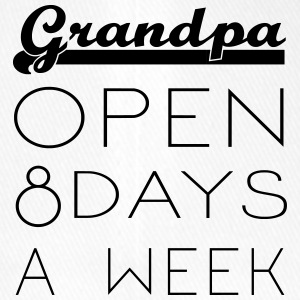 Grandpa: Opening hours 8 days / week - Flexfit Baseball Cap