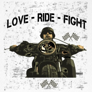 RIDE MOTORBIKE - LOVE - FIGHT - Flexfit Baseball Cap