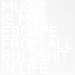 Music is my escape from all bullshirt in life - Flexfit Baseballkappe