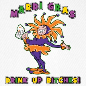 Mardi Gras Drink Up Bitches - Casquette Flexfit
