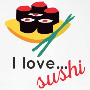 "Design ""I love ... sushi"" - Flexfit Baseball Cap"