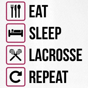Eat Sleep Lacrosse Repeat - Flexfit Baseballkappe