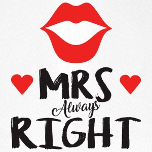 Mrs. Always right Valentine's Day - Flexfit Baseball Cap
