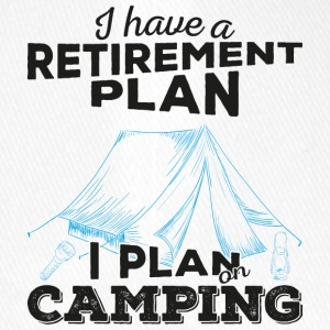 Retirement plan camping (dark) - Flexfit Baseballkappe