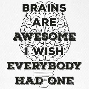 Brains are awesome! I wish everybody had 1 (dark) - Flexfit Baseball Cap