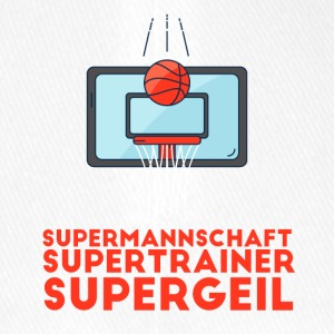 Supermannschaft, Supertrainer, Supergeil - Flexfit Baseballkappe