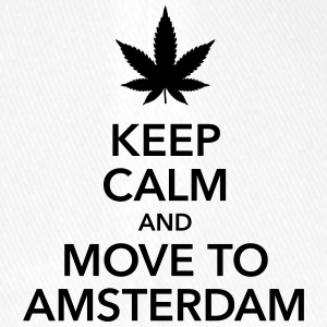 keep calm move to Amsterdam Holland Cannabis Weed - Flexfit Baseballkappe