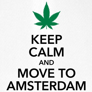 Keep calm move to Amsterdam Holland Cannabis Weed - Flexfit Baseball Cap