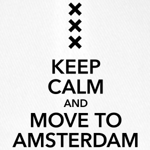 keep calm move to Amsterdam Holland Kreuz Cross - Flexfit Baseballkappe
