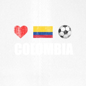 Colombia Colombian Football Soccer T-Shirt - Flexfit Baseball Cap