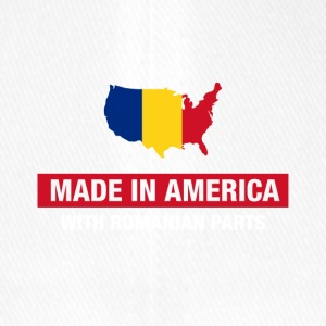 Made In America With Romanian Parts Romania Flag - Flexfit Baseball Cap