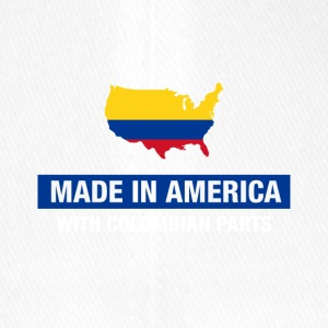 Made In America With Colombian Parts Colombia Flag - Flexfit Baseball Cap