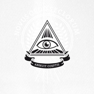 illuminati, conspiracy eye pyramid secret society - Flexfit Baseball Cap