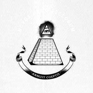 illiminati pyramid secret society eye rays Nerd - Flexfit Baseball Cap