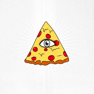 illuminati pizza eye lit fast food love f - Flexfit Baseball Cap