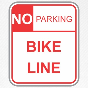 Road sign no parking bike line - Flexfit Baseball Cap