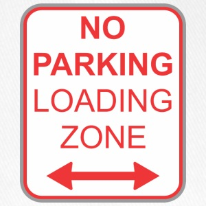 Verkeersbord no parking laden zone - Flexfit baseballcap