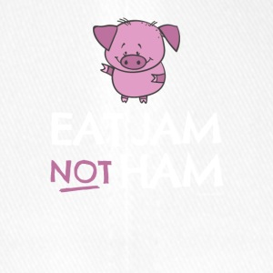vs0086 4 eat jam not ham Pig - Flexfit Baseball Cap