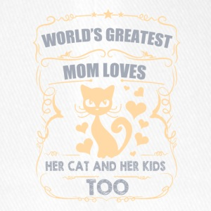 World greatest Mom loves her CAT/KIDS - Flexfit Baseballkappe