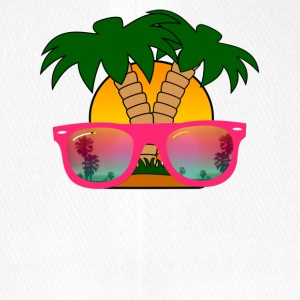 Summertime! Sunglasses & Palm Trees - Flexfit Baseball Cap
