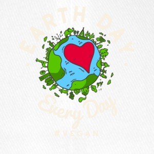 Earth Day Every Day Tshirt #vegan (Compassion) - Flexfit Baseballkappe
