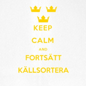Keep Calm and Fortsätt Källsortera - Flexfit basebollkeps