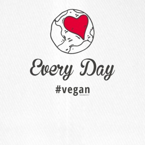 "Vegan T-Shirt ""Every Day # vegan"" (Slim Argento) - Cappello con visiera Flexfit"