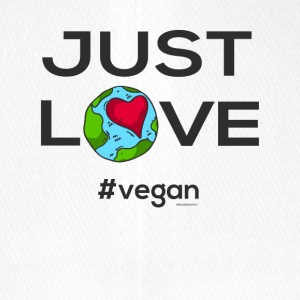 "Vegan T-shirt ""Just love #vegan"" - Cappello con visiera Flexfit"