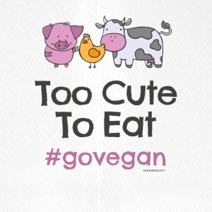 "Vegan Tshirt ""Too Cute to Eat #GOVEGAN"" - Flexfit Baseball Cap"