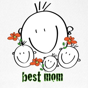 best mom - Flexfit baseballcap