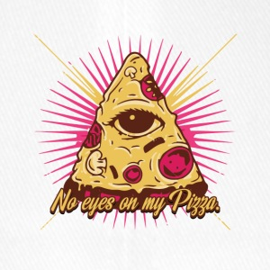 no eyes on my pizza - illuminati - auge - Flexfit Baseballkappe