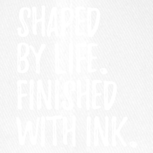 shaped by life finished with ink text only v1 - Flexfit Baseballkappe