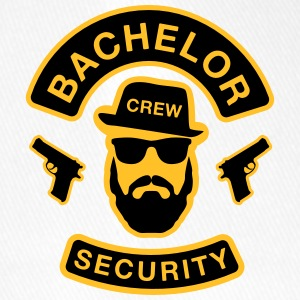 Bachelor Security - JGA T-Shirt - Bräutigam Shirt - Flexfit Baseballkappe