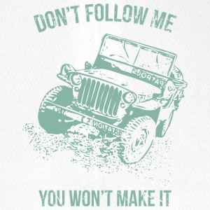 Follow Me Jeep Car - Flexfit Baseball Cap