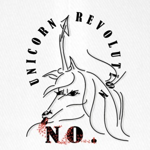 Unicorn-Revolution NO-Message - Flexfit Baseballkappe