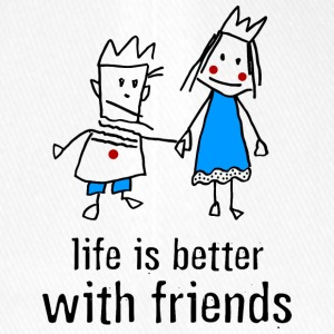 life is better with friends König Prinzessin Krone - Flexfit Baseballkappe